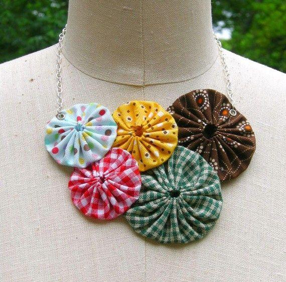 Resultado de imagen para fabric necklaces