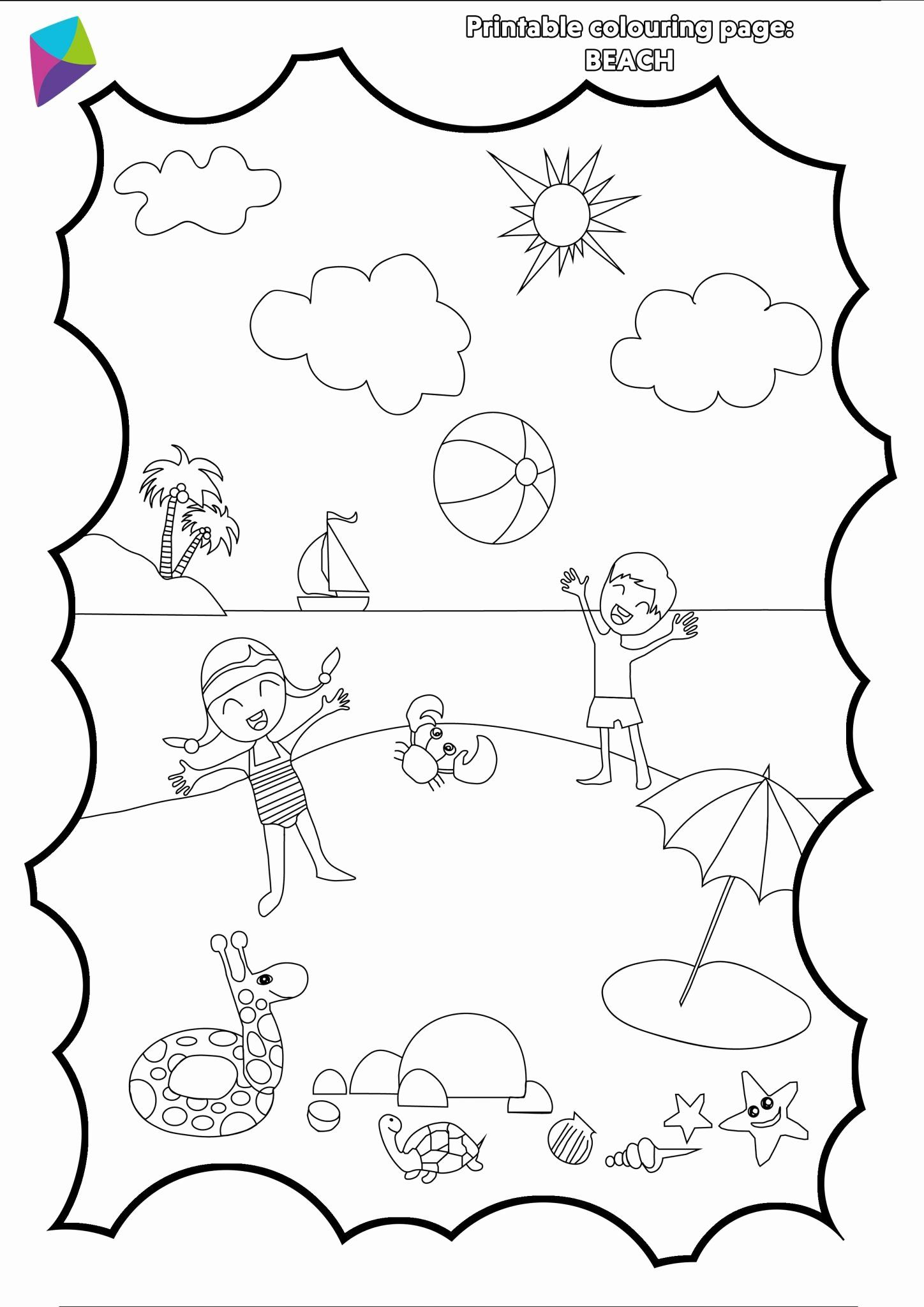 Summer Coloring Pages Pdf Lovely Summer Colouring Sheet Pdf Picniq