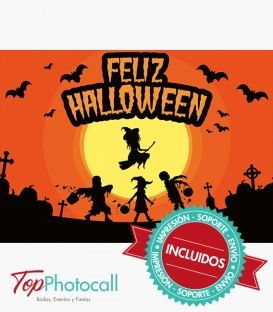 ¿Organizas una fiesta en Halloween? Triunfa en tu evento sorprendiendo a los invitados con este photocall terrorífico e ideal para la ocasión.