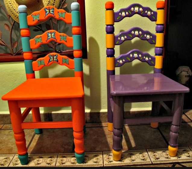Hand Painted Mexican Furniture Sillas Mexicanas Mobiliario De