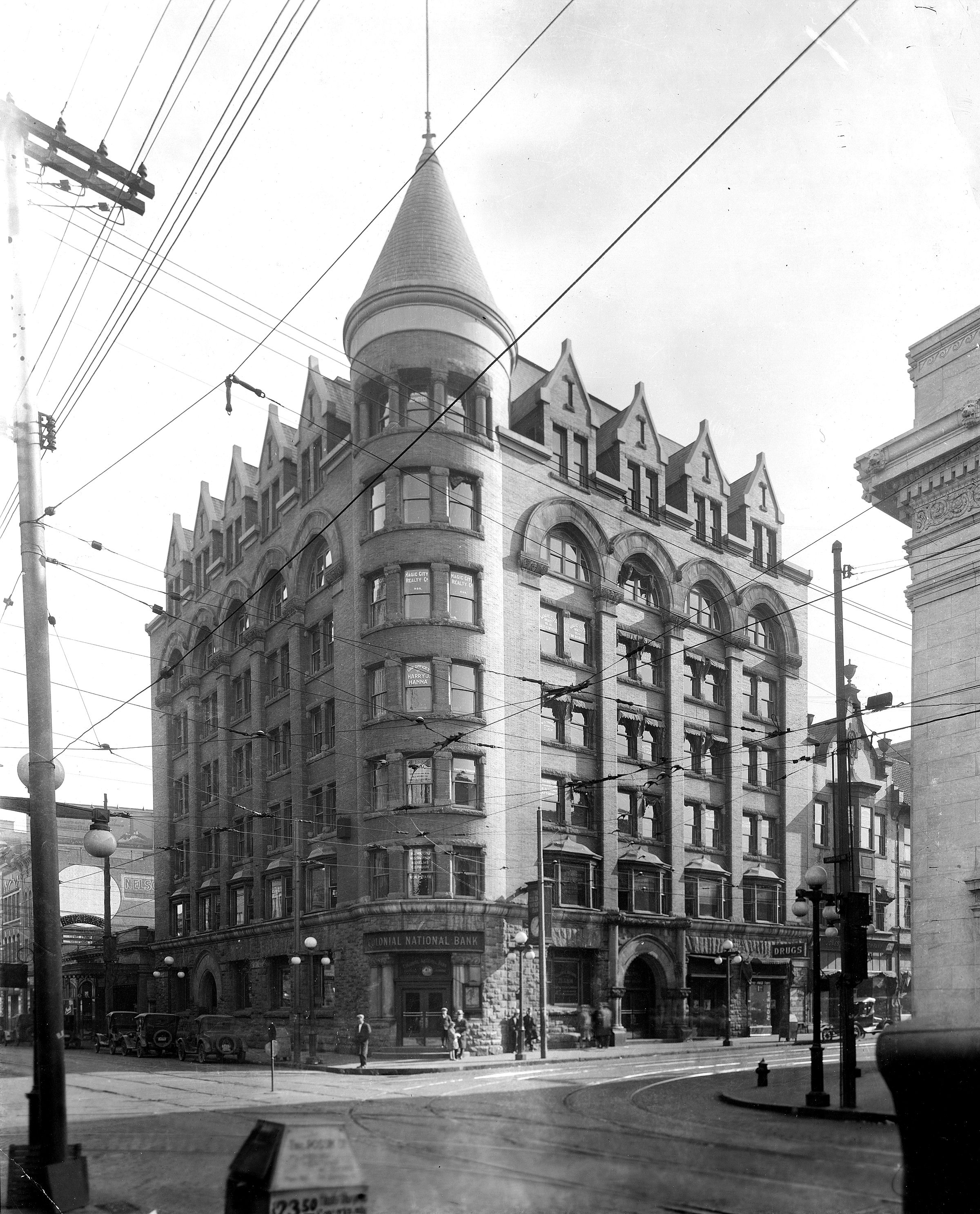 The Terry Building 1892 1927 On The Southeast Corner Of Jefferson And Campbell Circa 1920 It Housed The Colonial Nation Roanoke Virginia Roanoke Va Roanoke