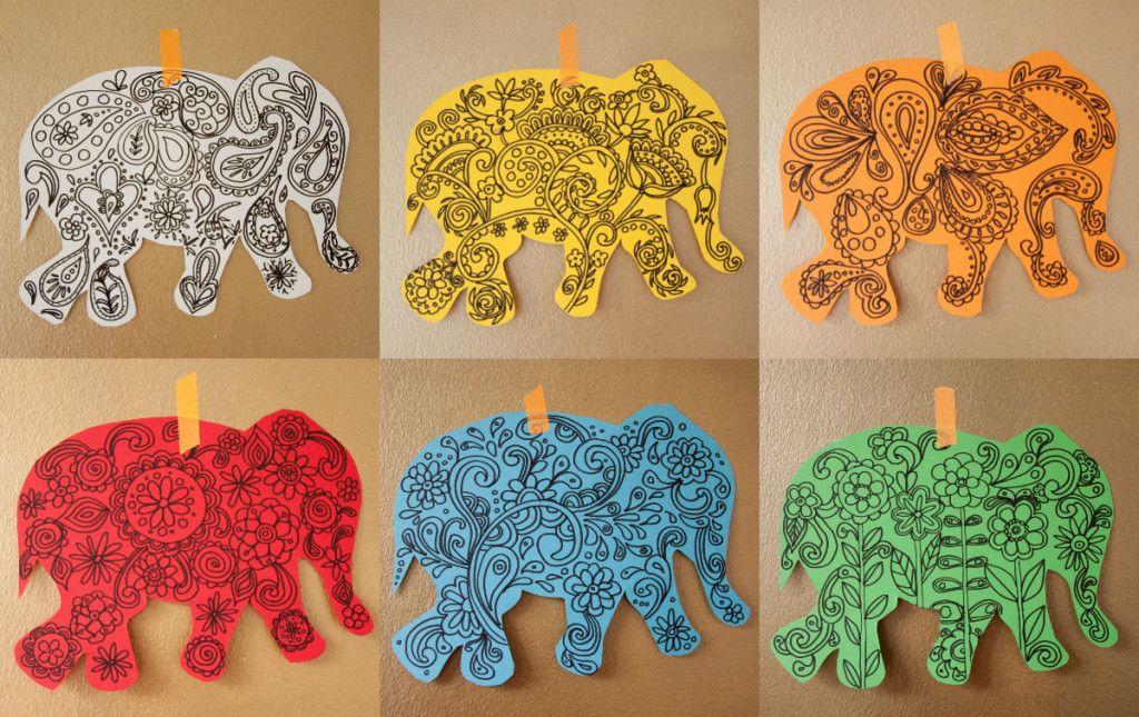 Elefant basteln mit anleitung elefant basteln for Indische wanddeko