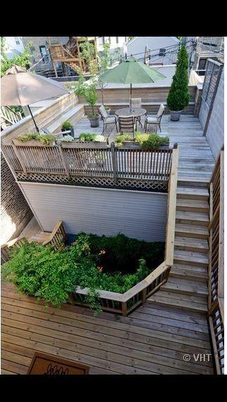 Garage deck homedesign pinterest decking rooftop for Garage roof deck plans