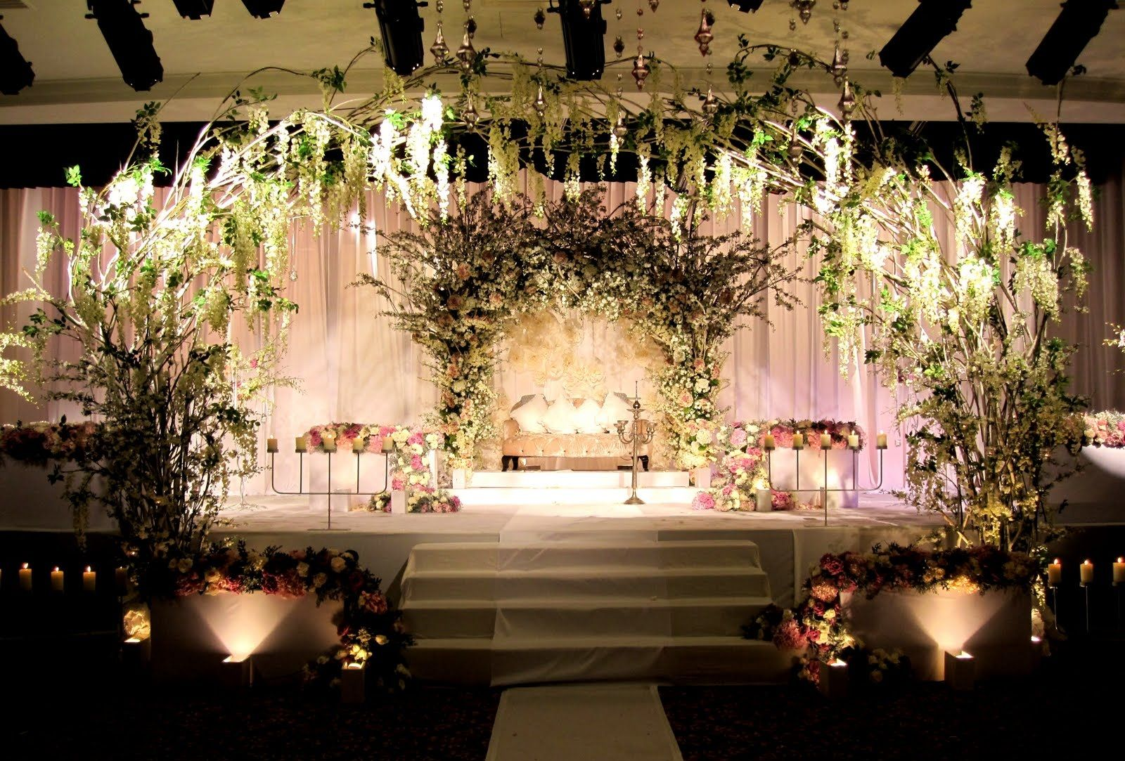 Wedding stage decoration with balloons  Pin by Tricia Favela on Our wedding  Pinterest  Weddings