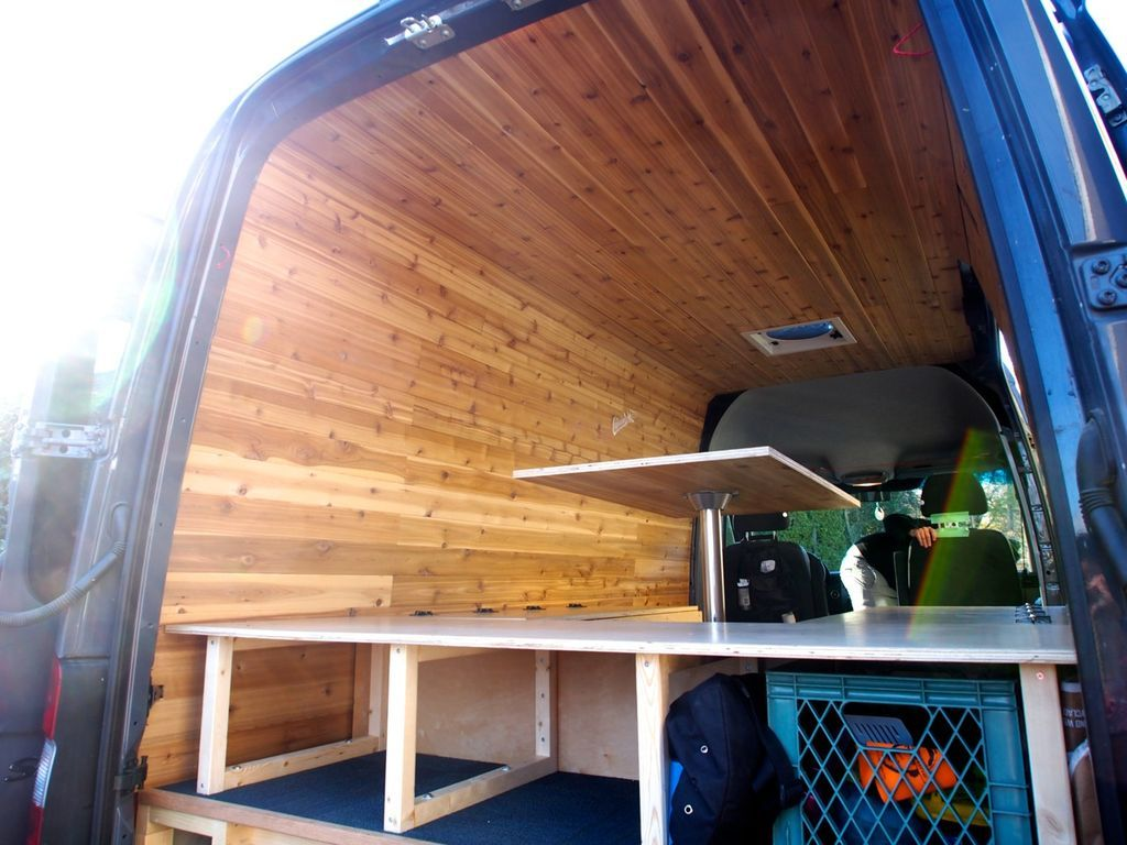 Build It Yourself Campers Build It Yourself Cabin Kits: Cedar Paneling For Van Interior