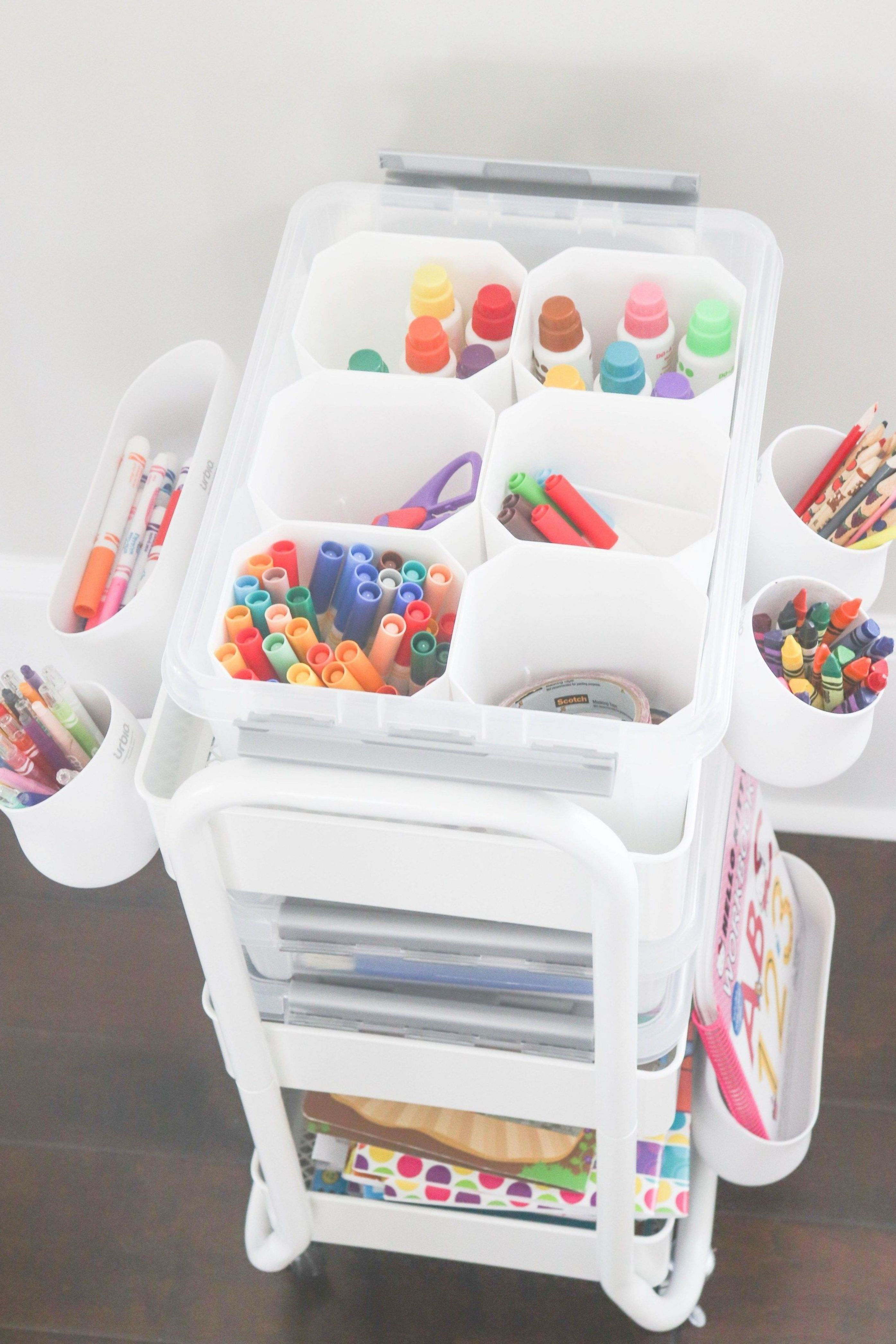 Art Cart For Toddlers Or Kids