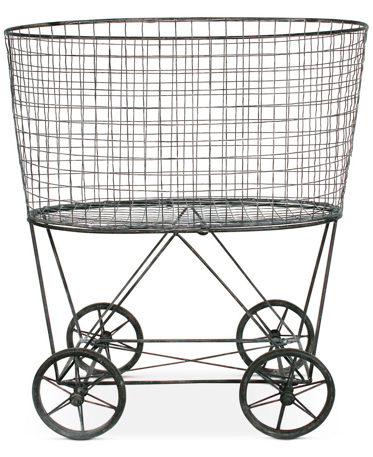 3r Studio Vintage Metal Wheeled Laundry Basket Reviews Macy S