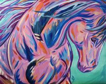 Colorful Wild Animal Paintings Google Search Quilling Horses