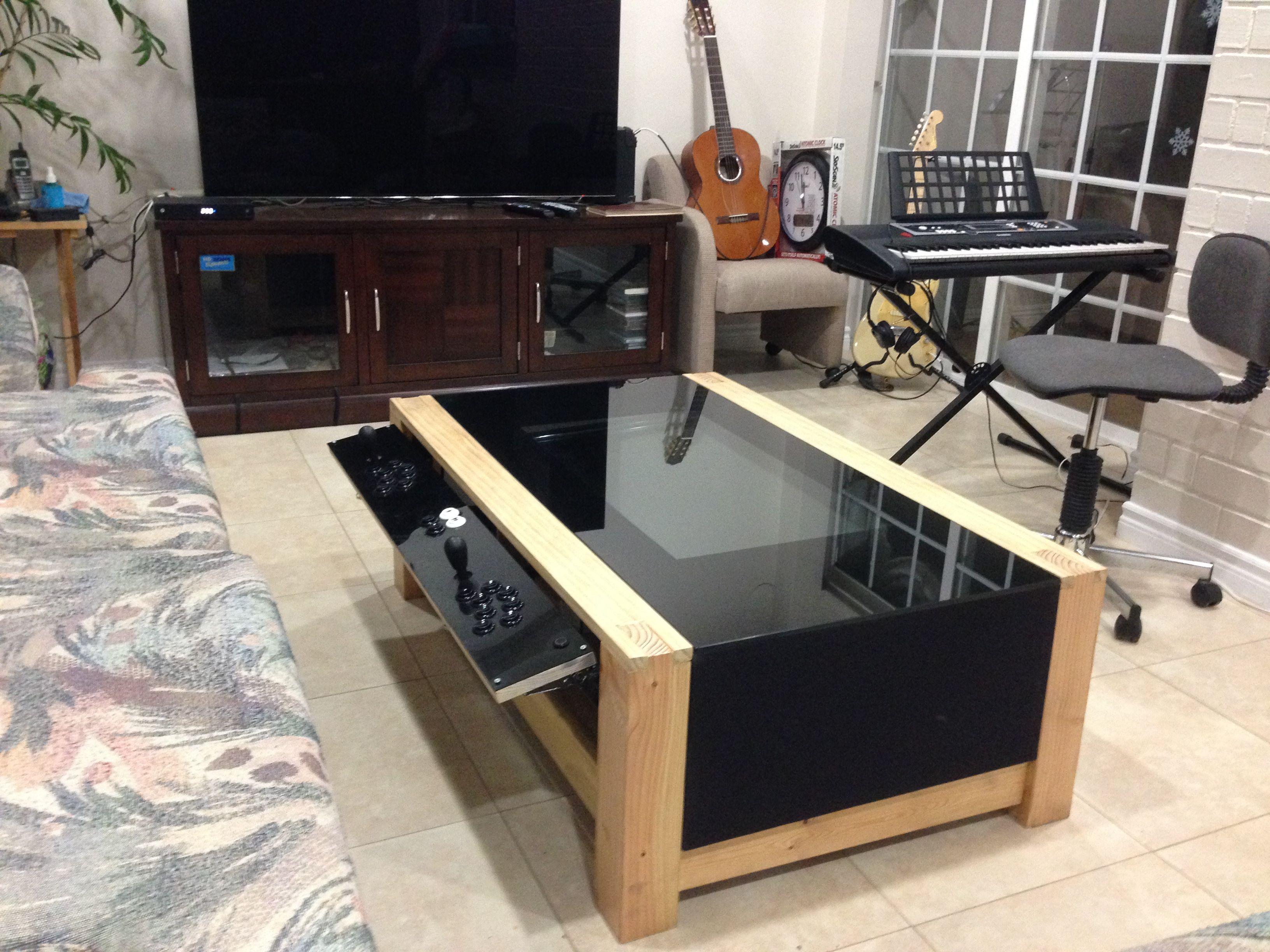Geeky Coffee Tables Diy Arcade Coffee Table Video Games Pinterest Arcade