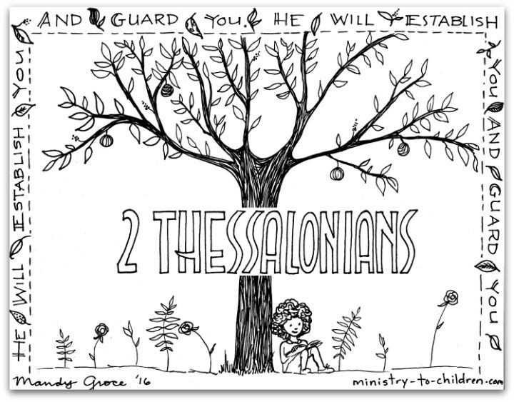 Paulu0027s Epistle - 2 Thessalonians - Bible Books Coloring Pages - new fall coloring pages for church
