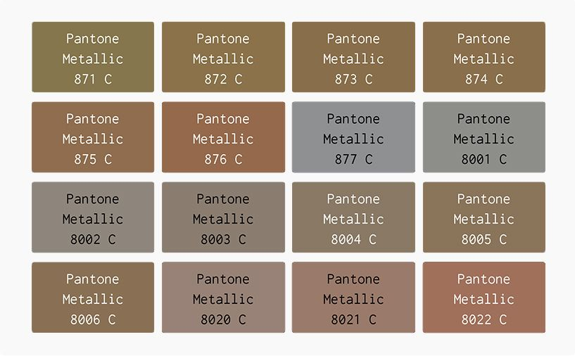 Pantone metallic color chart google search my colour chest colors also rh pinterest