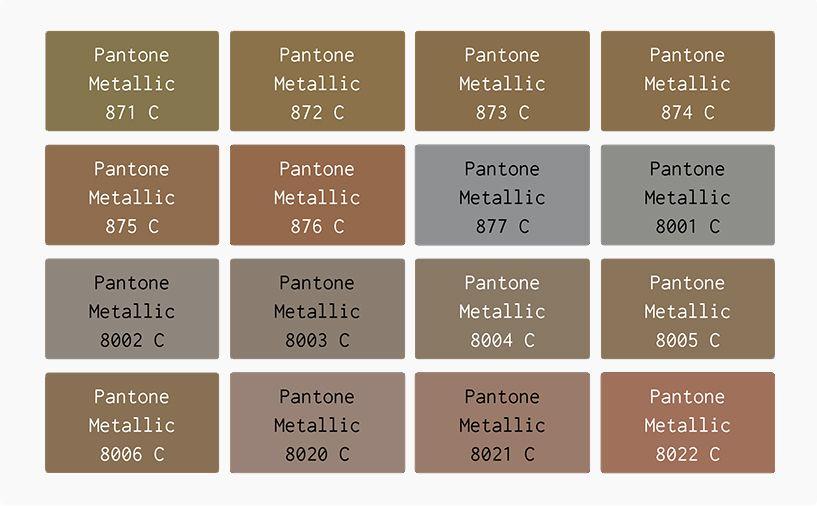 pantone metallic color chart - Google Search | My Colour