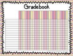 teacher grade book printable