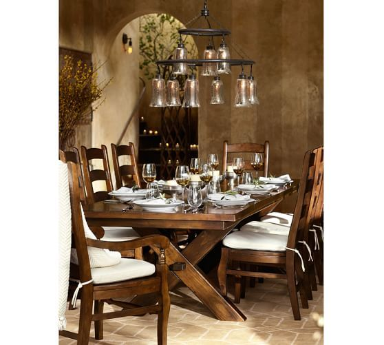 Toscana Extending Rectangular Dining Table  Pottery Barn  Next Alluring Dining Room Tables Pottery Barn Design Inspiration