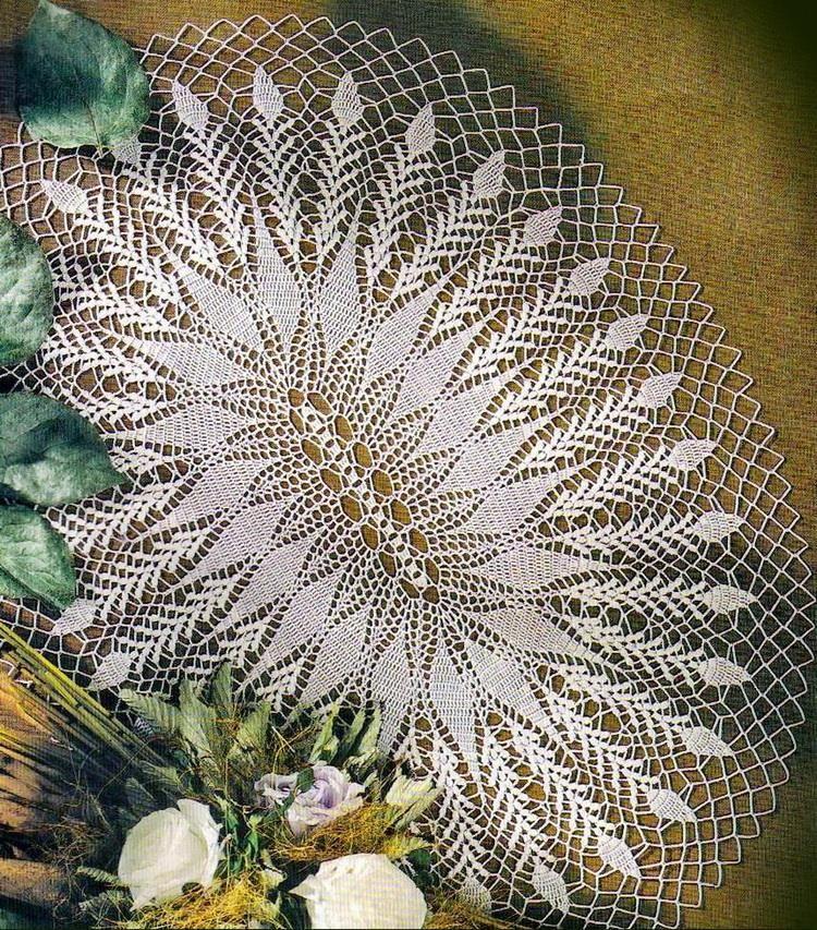 Wonderful Oval Doily Pattern …   uncinetto   Pinterest   Deckchen ...