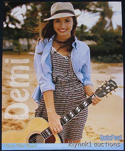 Demi Lovato Quiz Fest Poster Centerfold