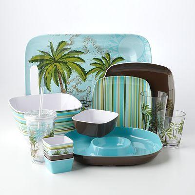 SONOMA life + style Palm Tree Dinnerware Collection - Kohlu0027s & Love this! SONOMA life + style Palm Tree Dinnerware Collection ...
