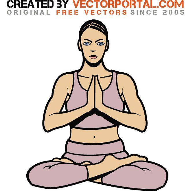 Woman In Yoga Pose Vector Art Yoga Poses Poses Women