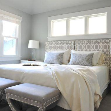 Paint Benjamin Moore Wickham Gray Blue Bedroom Walls Light