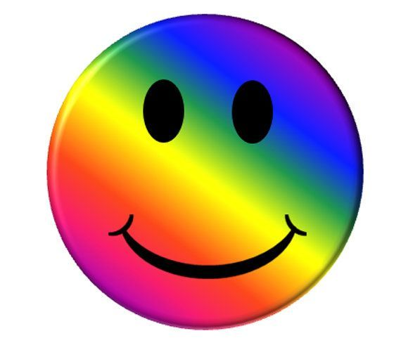 Rainbow Smiley Faces | Rainbow Smiley Face Pocket Mirror Happy ...