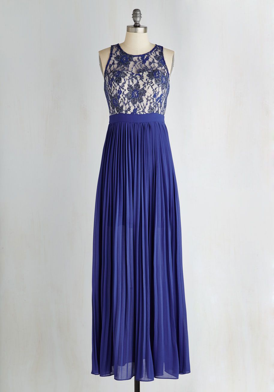 Romantic Semantics Dress in Sapphire, #ModCloth