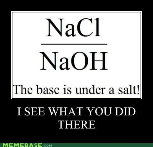 the base is under a salt! | Science puns, Chemistry humor ...