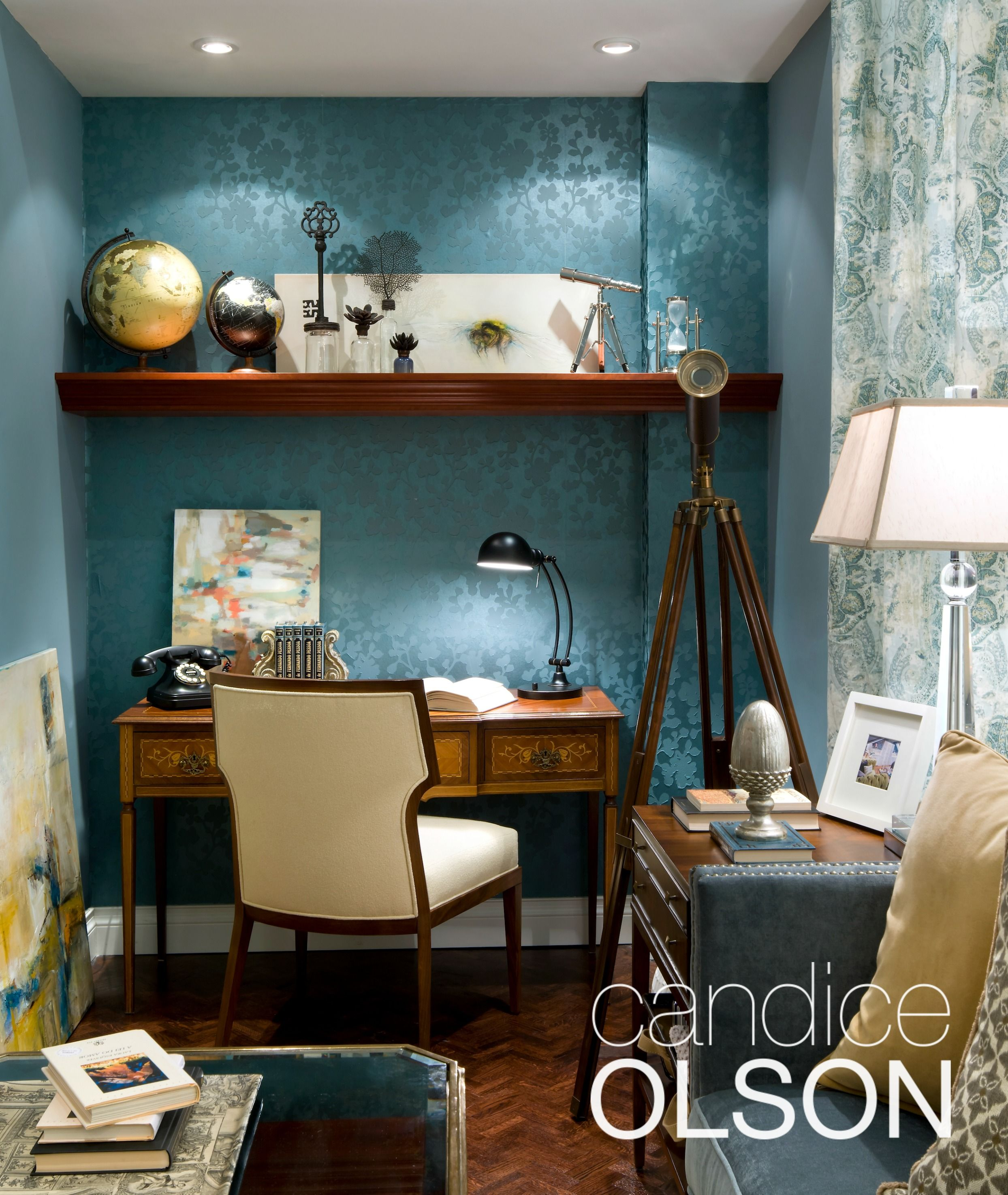 Accent Wall Effects Windows: WALLPAPER TIP #2 SUBTLE BACKDROP: A Wallpapered Accent
