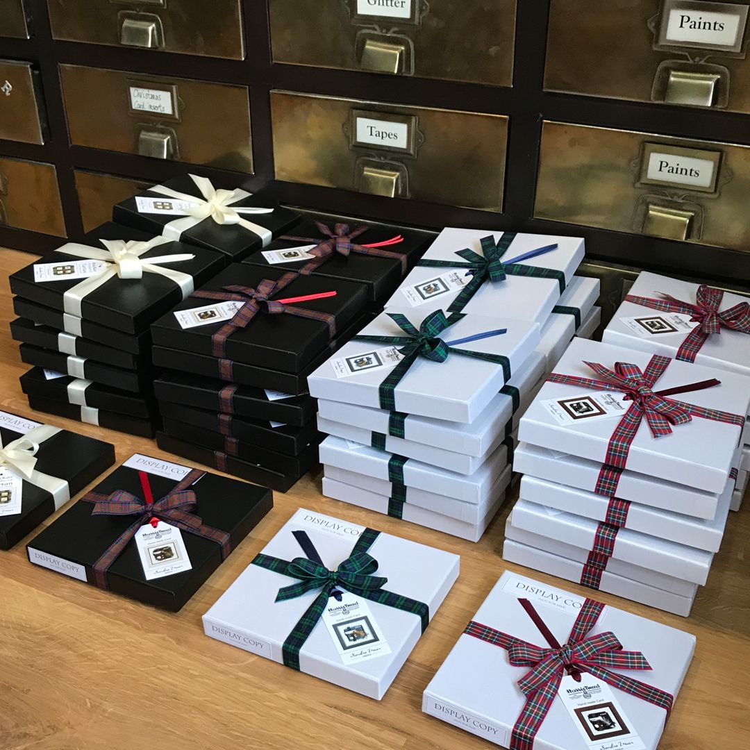 Harris tweed greeting card brown greeting cards cards