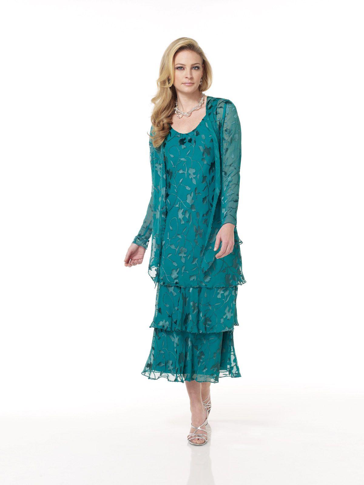 Twopiece silk burnout dress set sleeveless ballerinalength soft a