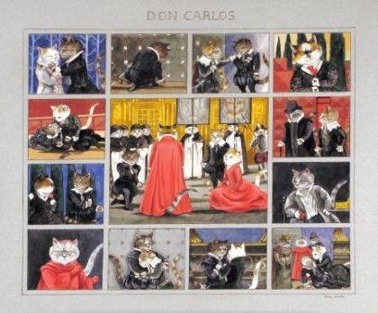 오페라, 발레, 소설 주인공 역의 고양이들. 제 2탄 ... Carmen ~ 카르멘 Don Carlos ~ 돈 카를로스 Wer...