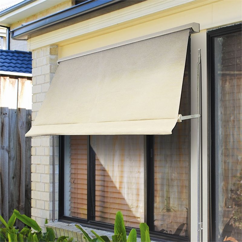 Perfect Bunnings $ 266 Windoware 1.5 X 2.1m Safari Fixed Arm Outdoor Awning Blind