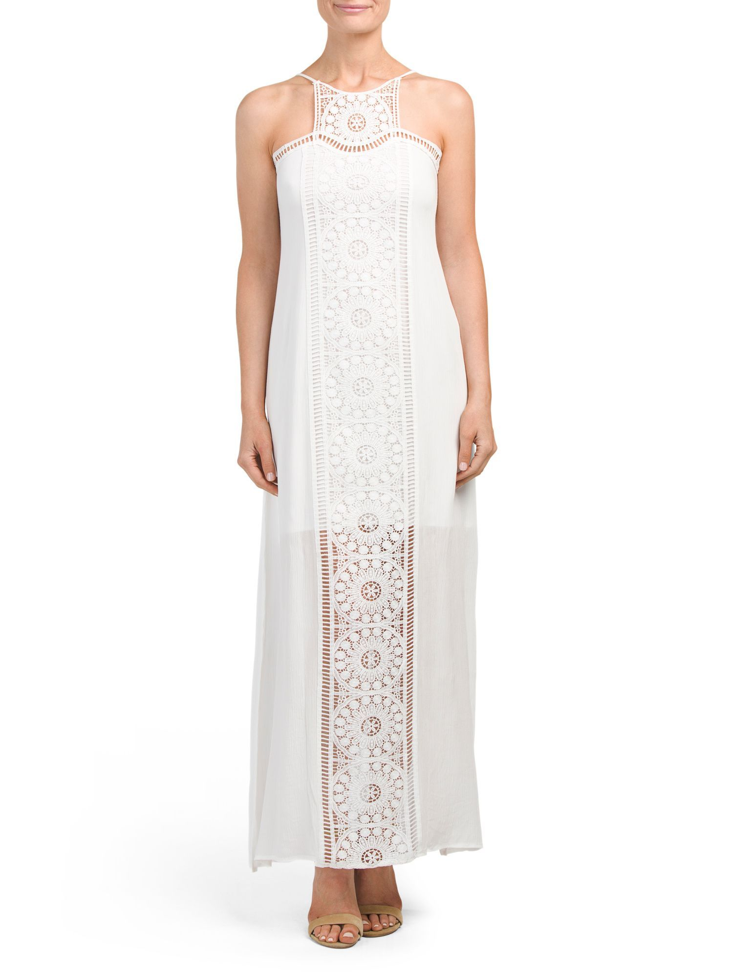 Juniors lace medallion maxi dress products pinterest products