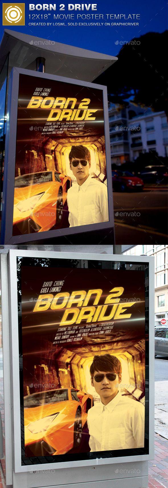 Born 2 Drive Movie Poster Template