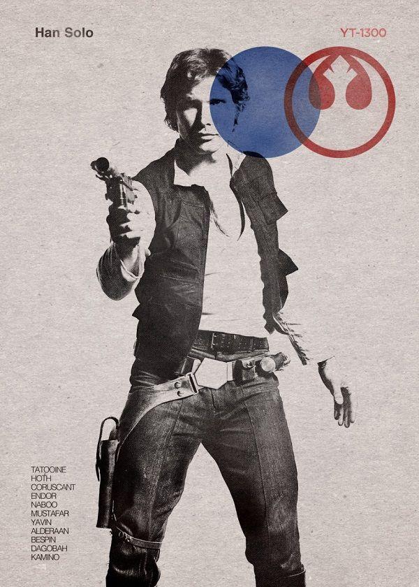 "Official Star Wars Vintage Cuts Han Solo #Displate explore Pinterest""> #Displate artwork by artist… | Displate thumbnail"