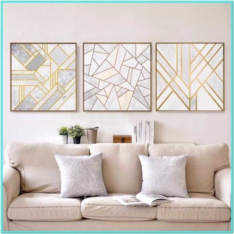 Living Room Wall Art Living Room Diy Wall Decor Desain Rumah Geometri