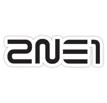 Pegatina ''2NE1' de Pahhs