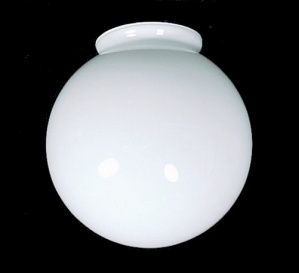 AS IS White Glass Ball Globe Light Shade. Lighting Replacement For Flush  Mount Ceiling Or Fan Light Fixture, Pendant Or Swag Lamp. 3 Fitter X W