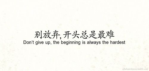 Don T Give Up The Beginning Is Always The Hardest Japanese