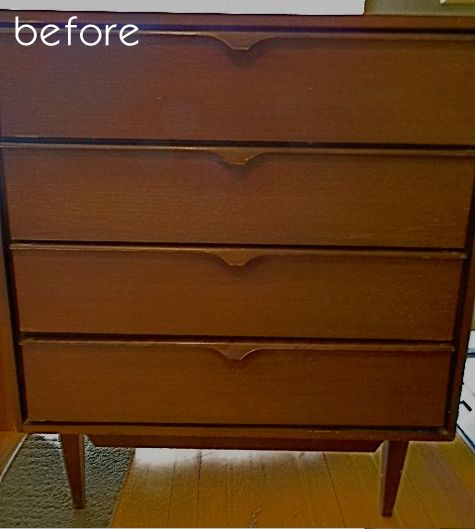 chevron painted furniture. Old Chevron Dresser Before It\u0027s Makeover. Design Sponge Painted Furniture R