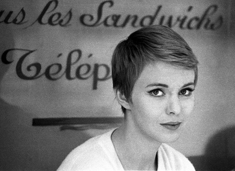 """Jean Seberg en """"Al final de la escapada"""" (À bout de souffle), 1960"""