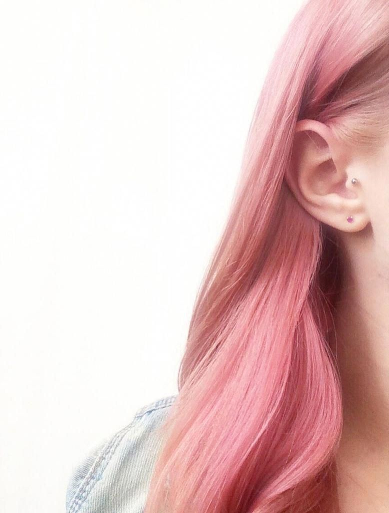 My New Rose Gold Pink Peach Hair By Bleach London Products See