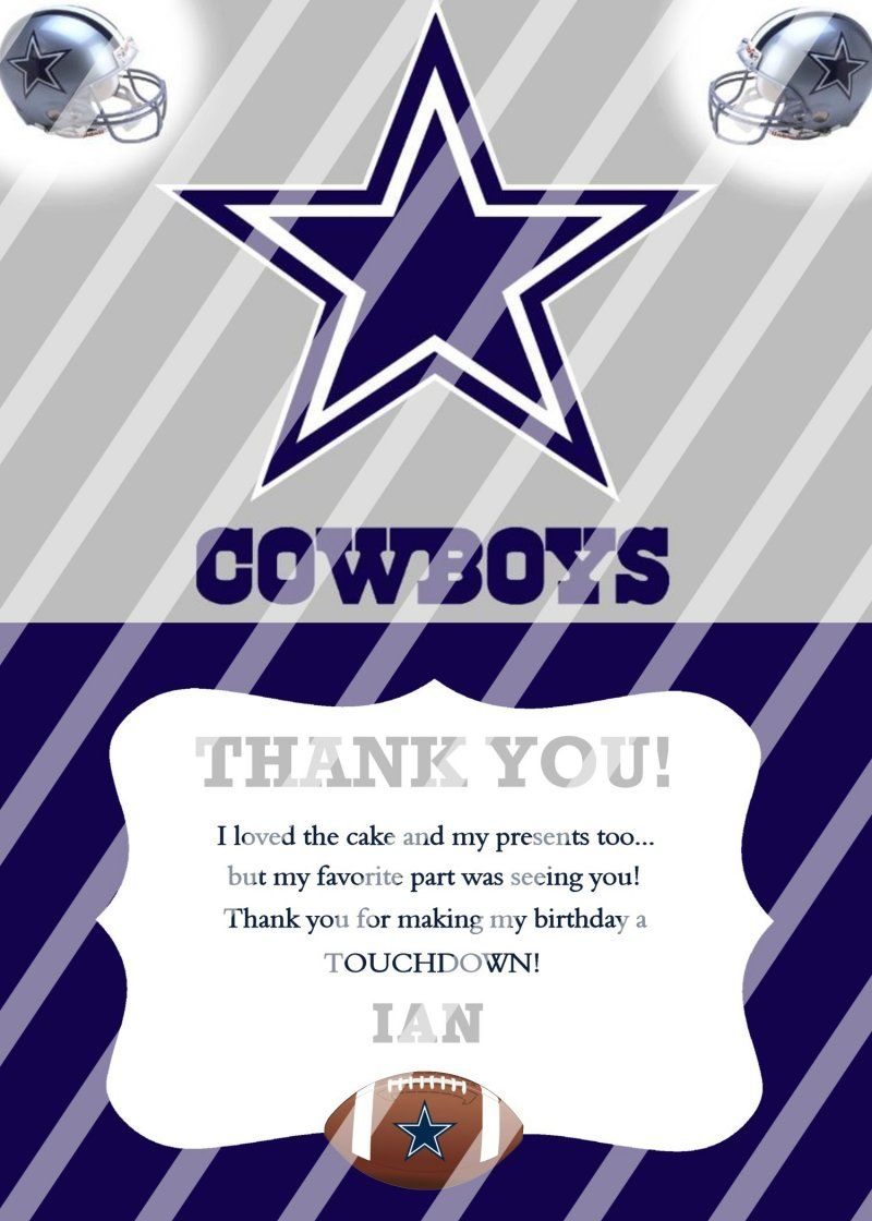 Dallas cowboys personalized thank you card 4 digital file you dallas cowboys personalized thank you card 4 digital file you print kristyandbryce Choice Image