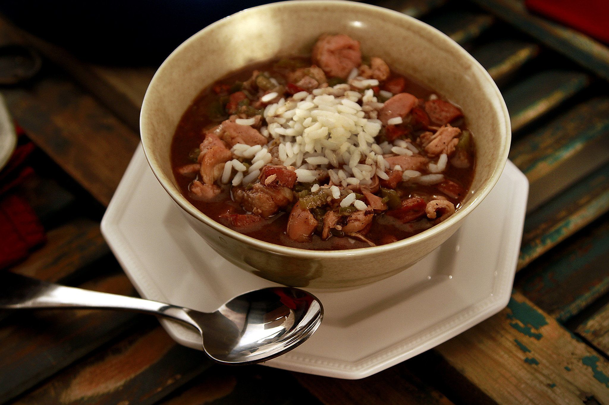 recipe: paul prudhomme chicken and sausage gumbo [13]