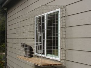 Fine Outdoor Cat Enclosure Attached To Window With A Cat Window Home Interior And Landscaping Analalmasignezvosmurscom