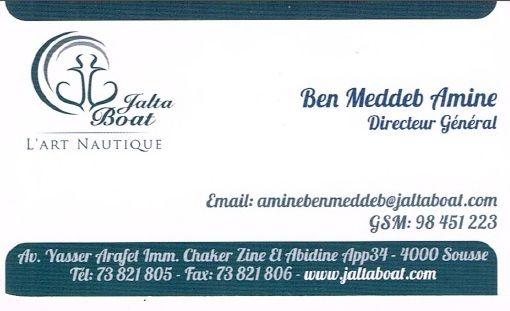 Carte Visite Jalta Boat