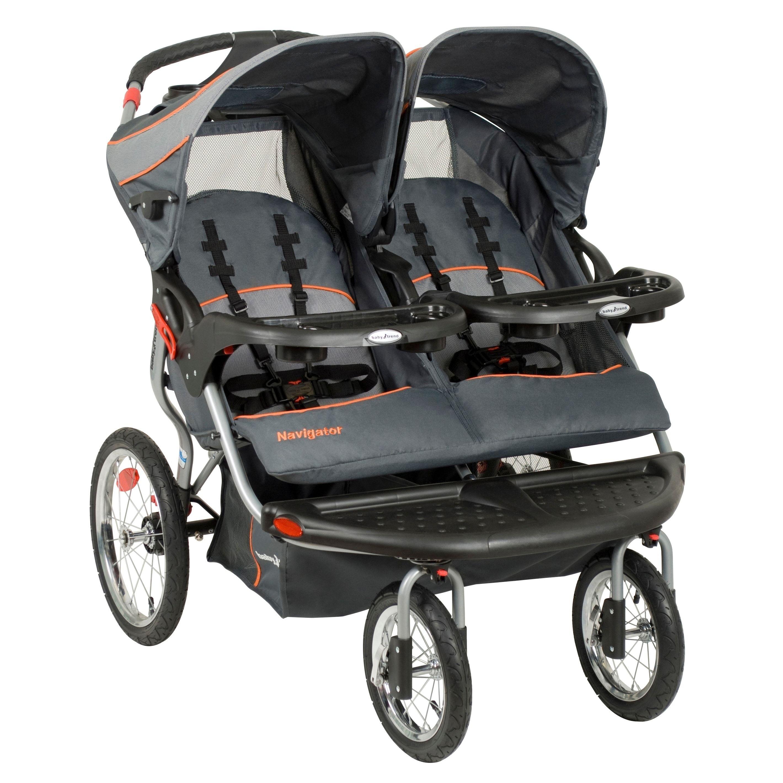 Baby Trend Navigator Double Jogger,Vanguard, Grey