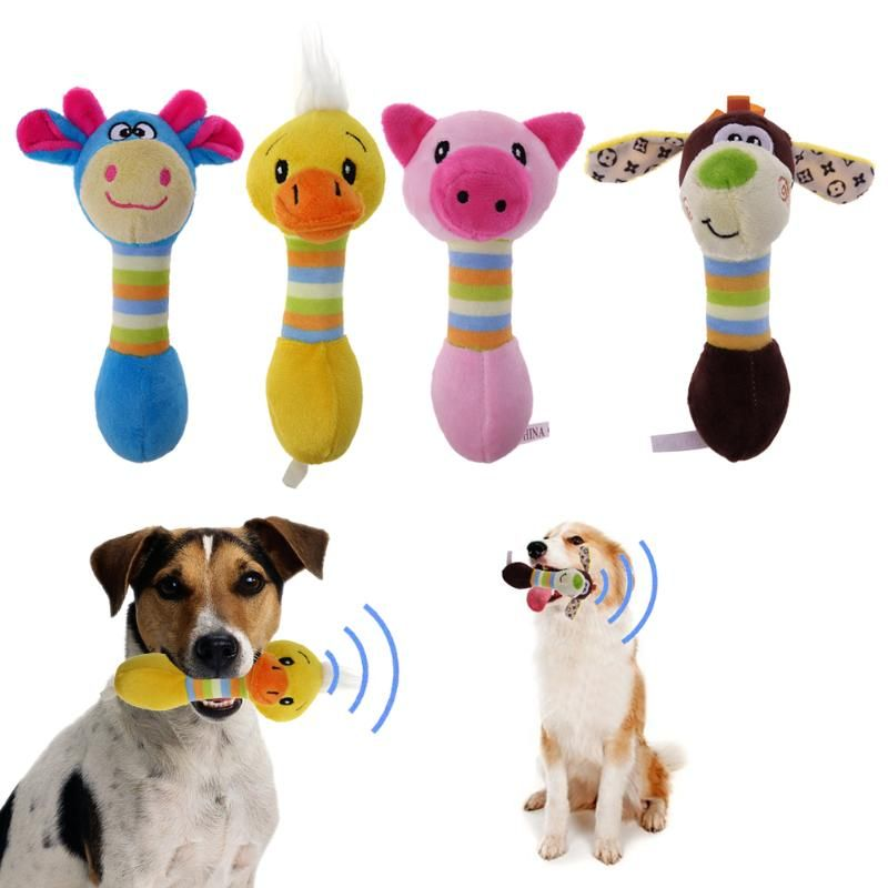 Dog S Cute Squeaky Chew Plush Toys Pet Toys Funny Dog Toys