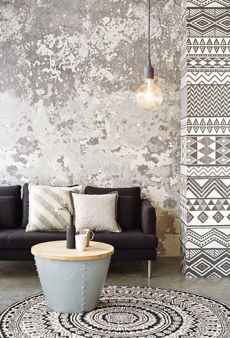 Ornamentic in pinterest tapeten wandfarbe und - Wandfarbe beton ...