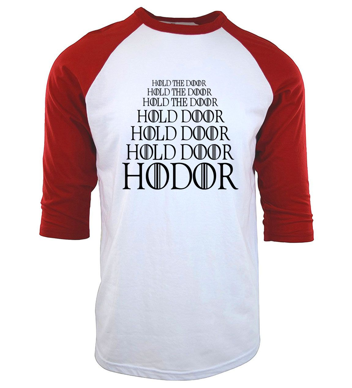27b5290c3ee3d Like and Share if you want this 2017 HODOR letters print men raglan brand  clothing fitness three-quarter sleeve t shirts Game of Thrones Hold the  Door ...