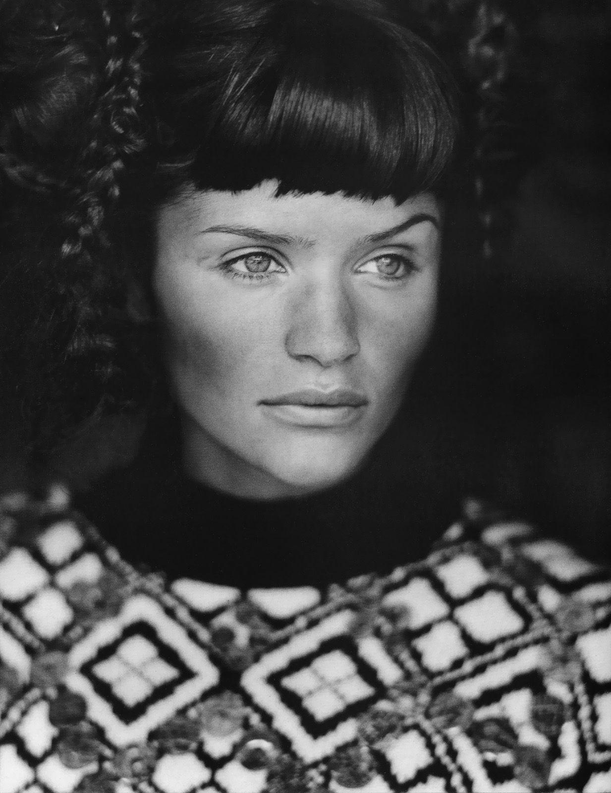 Helena Christensen Aug 1994-Vogue-Paris Photographer: Mikael Jansson. Fashion: Jean Paul Gaultier